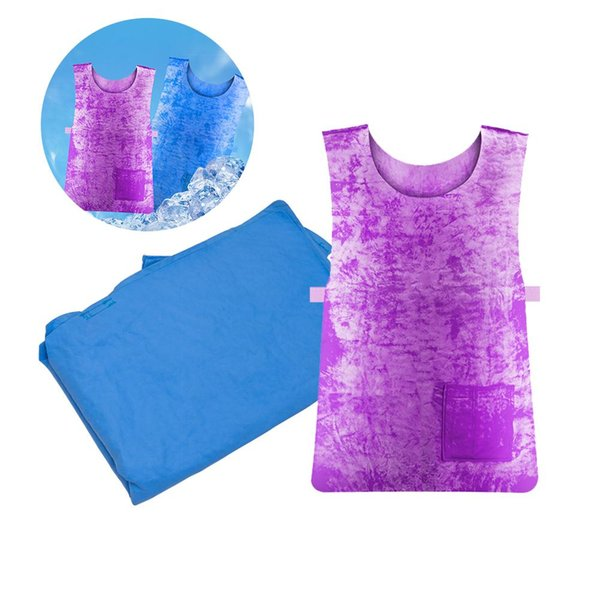 Summer Sunstroke Prevention Supplies Ice Cooling Waistcoat Vest High Temperature Protective Clothing for Outdoor Sport