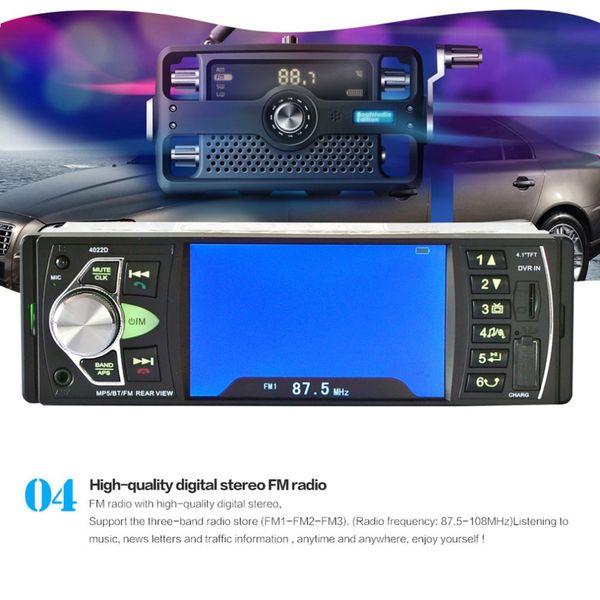Автомобиль 4.1-дюймовый TFT HD цифровой экран стайлинга автомобилей DVD аудио MP5 плеер радио FM передатчик Bluetooth поддержка громкой связи