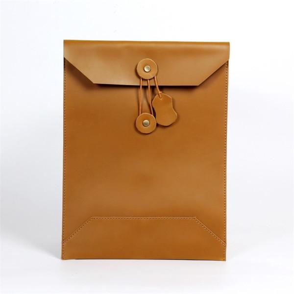Joyir men's business bag handbag men leather computer bag portfolio men envelope male laptop bags mens brief case #363285