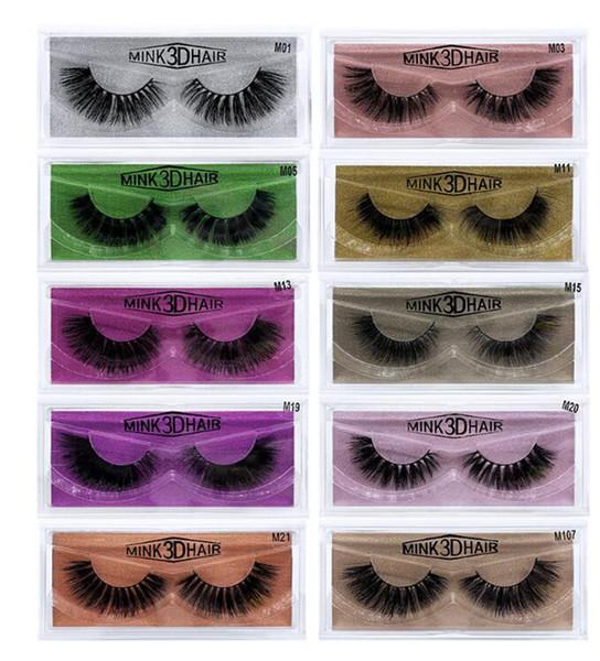 Newest 3D Mink Eyelashes Eye makeup Mink False lashes Soft Natural Thick Fake Eyelashes Extension Beauty Tools 10styles DHL shipping