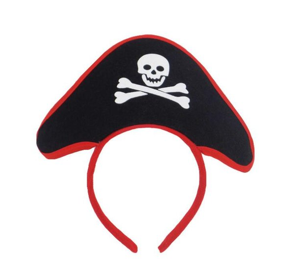 Halloween Pirate Head Hook Ghost Festival Hair Hoop Masquerade Props GB1071