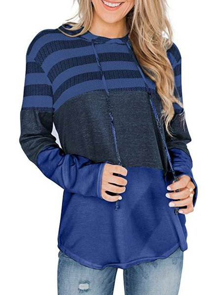 navy blue striped hoodie