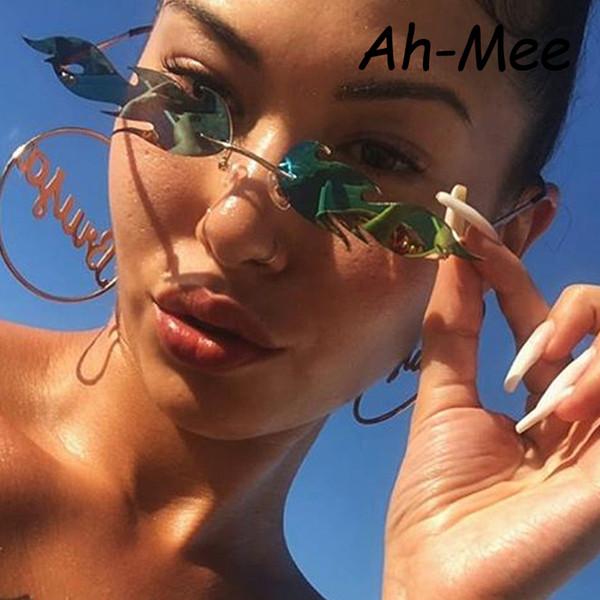 Gafas de sol de ojo de gato de lujo de las mujeres diseñador de la marca de la vendimia gafas de sol hombres pequeños tonos de metal para las mujeres de moda espejo gafas UV400