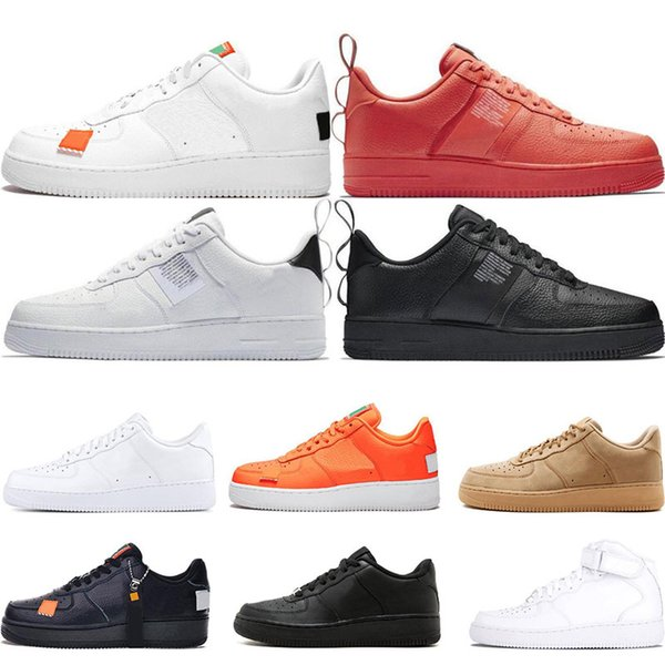 Men 1 Utility Classic Black White Dunk Women Casual Shoes Red One Skateboarding High Low Cut Wheat Trainers Sports Sneakers Size 36 45 Shoes Online