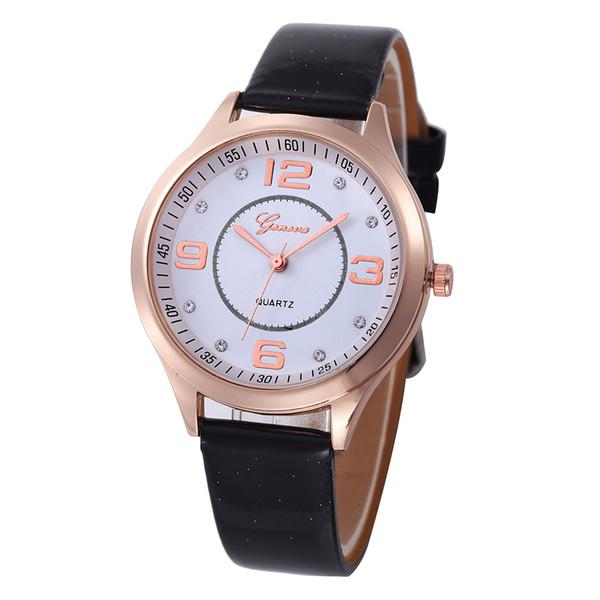 Zufällige Uhr des heißen verkaufenden Genf-Lederquarzes 100pcs / lot