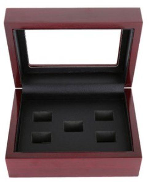 Nova chegada de jóias 2 3 4 5 6 7 Furos Caixa de Madeira Anel de Campeão Vitrine Caixas De Madeira Para Anel