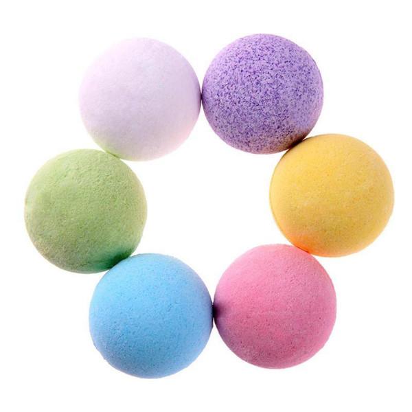 40g Bubble naturel Bain Bombe Boule naturel Sooth Whiten Bain moussant Sel Boule Huile Essentielle Spa Douche Boule Mix Couleurs DHL gratuit