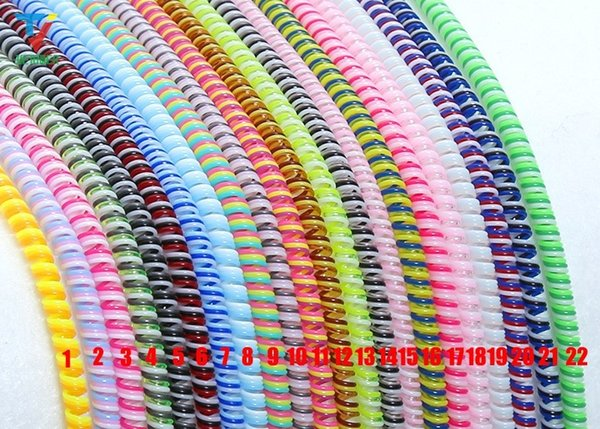 1.4M long Cable protector Bobbin winder Data Line Case Rope Protection Spring twine For Iphone 6plus Android USB earphone Cover 2000pcs/lot