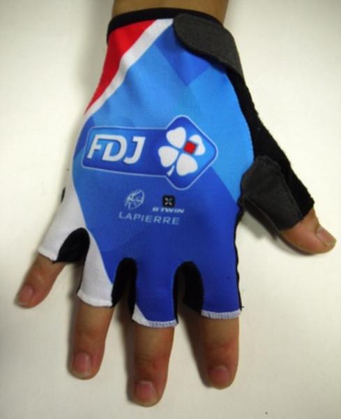 Equipo Pro FDJ Guantes de Ciclismo GEL Absorción de Choques Pro Alta Calidad de Verano Medio Dedo Guantes de Bicicleta Accesorios de Bicicleta