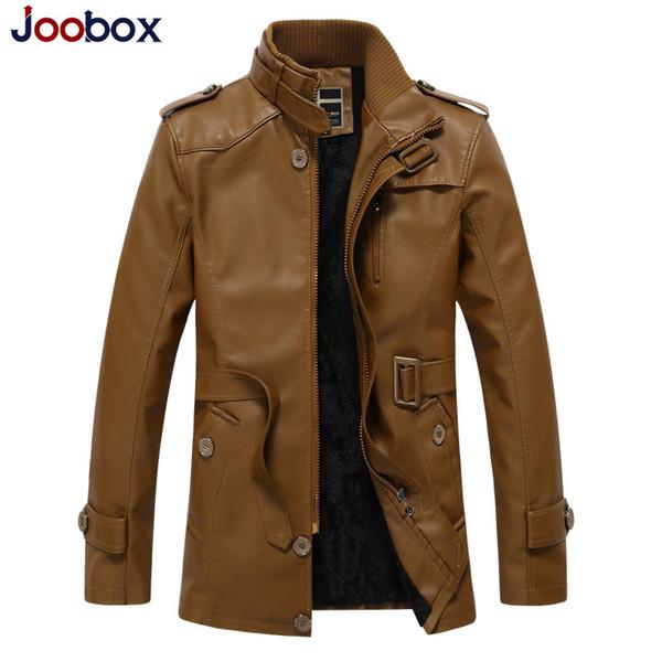 Men's Pu Leather Jaket Men Winter Motorcycle Leather Jacket Men's Clothing Long Biker Jacket Male Bomber Coat Plus Size