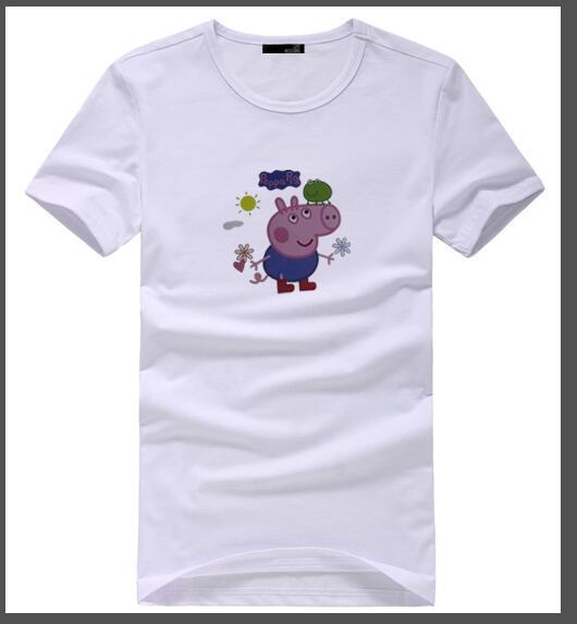 Enérgico moda juvenil de ocio de alta calidad camiseta de los hombres de dibujos animados de impresión de cuello redondo manga corta al por mayor y al por menor tamaño s-2 xl libre shipp