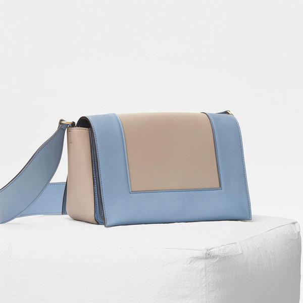 bolsos de diseño bolsos de las mujeres billetera asistente de vuelo bolso de las mujeres bolsas de alta calidad bolsa bandolera bolso de cuero de la vendimia bolso azul