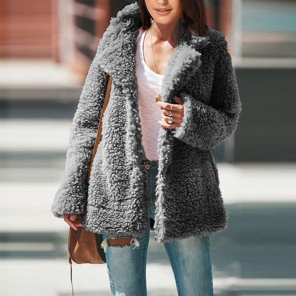 Осень зимней куртки женского пальто моды случайных женщины шуба женской повседневная куртка женщина SY85304