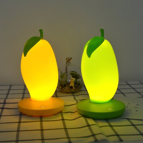 Usb Charge Three Block Dimming Mango Modeling Small Night-light Originality Bedside Night Touch Induction Led Fruits Lamp