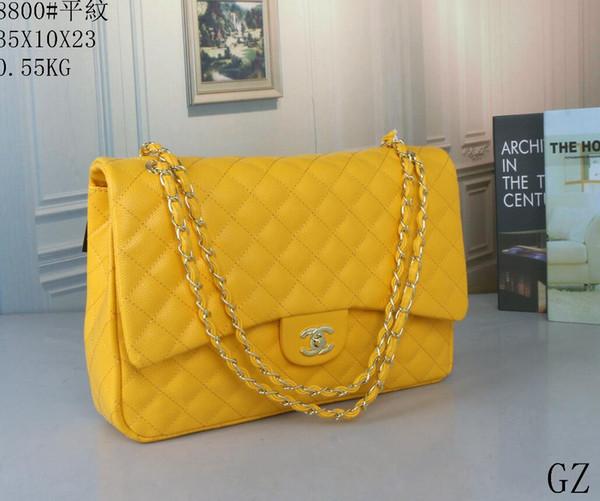 Yüksek kaliteli omuz çantası yeni hit renk Ling ızgara Messenger çanta basit zincir paketi çapraz Ceset torbaları Kadın cüzdan B31 Debriyaj çanta çanta