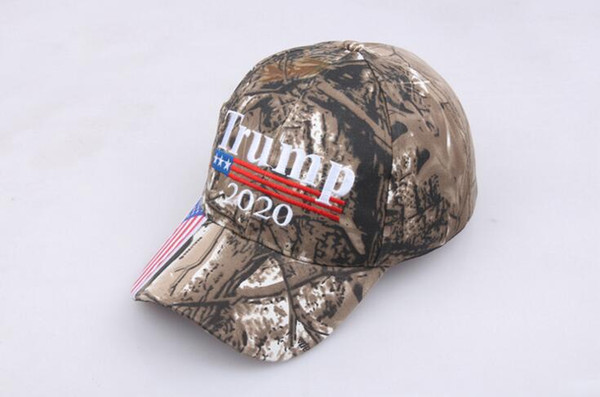 best selling Camouflage Donald Trump hat USA Flag baseball cap Keep America Great 2020 Hat 3D Embroidery Star Letter Camo adjustable Snapback F001