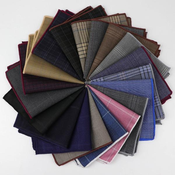 Tasca quadrata a righe per uomo Fazzoletto da taschino in cotone con motivo Paisley Colorato tinta unita Gentlemen Wedding Designer Pocket Square