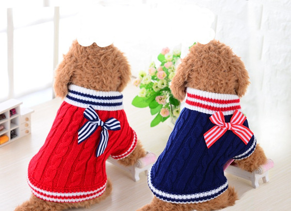 Pet Sweater Small Dog Navy Sweater VIP Clothing Autumn/Spring Sweater Teddy Chihuahua Apparel Supplies Wholesale