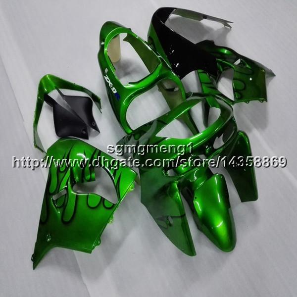 23colors+Botls green motorcycle hull for Kawasaki ZX9R 1998-1999 ABS Plastic Fairing hull ZX-9R 98 99