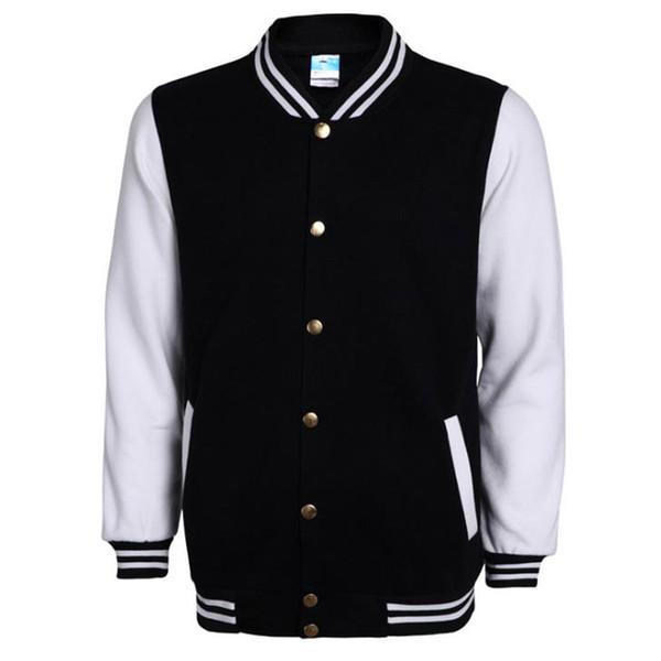Brand White Varsity Baseball Jacket Men/Women Fashion Slim Fit Fleece Cotton College Jackets For Fall Bomber Veste Homme