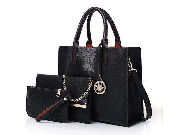 New Arrival Oil Leather Handbags for 579 Women Large Capacity Casual Female Bags Trunk Tote Shoulder Bag Ladies Big Crossbody Bags