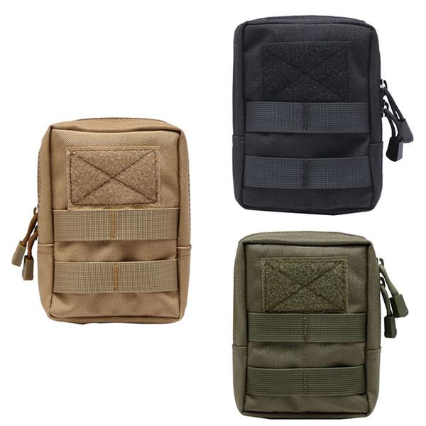 600D táctico de Molle bolsa de nylon bolsa de teléfono portátil al aire libre Monedero móvil del recorrido del deporte militar paquete de la cintura