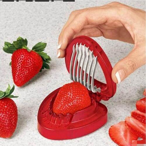 Strawberry Slicer Obst Carving Tools 1 PC Blade Craft Salatschneider Edelstahl Tragbare Küchenhelfer GB718