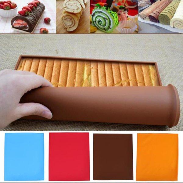 Antihaft Silikon Backmatte Kuchen Roll Matte Backmatte Backen Kuchen Pad Roll Pad Backformen Backen Werkzeuge Küche Zubehör