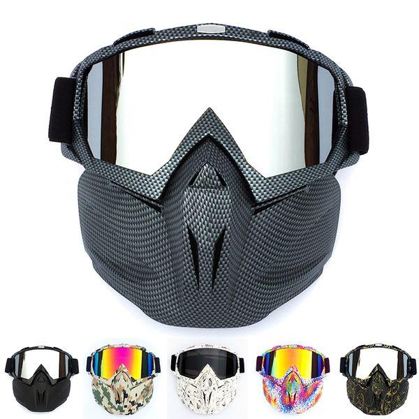 Capacete de ciclismo Goggle Máscara De Carbono Estilo Resistente Homens Design de Corrida Respirável ATV Equitação Olho Desgaste à prova de vento Ocular Óculos