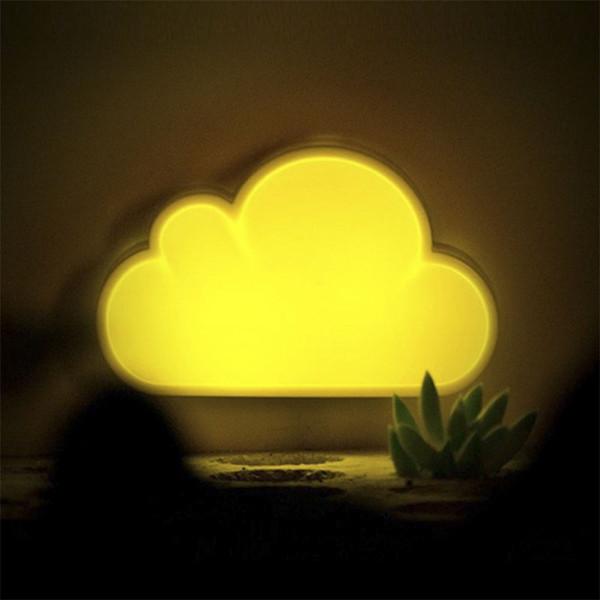 BRELONG ışık kontrolü led indüksiyon bulut gece lambası Yatak odası yatak odası akıllı indüksiyon Mini enerji tasarruflu lamba