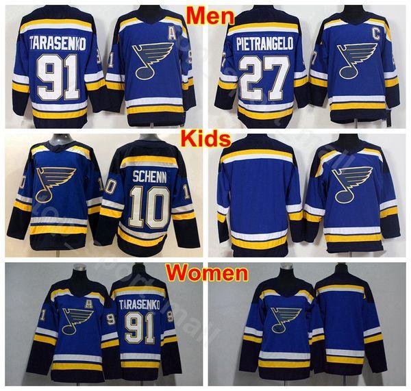 newest 1921b 8ed0c 2019 Men Women Youth Vladimir Tarasenko Jersey 91 St. Louis Blues Ice  Hockey Woman Lady 27 Alex Pietrangelo 10 Brayden Schenn Blue Man Children  From ...