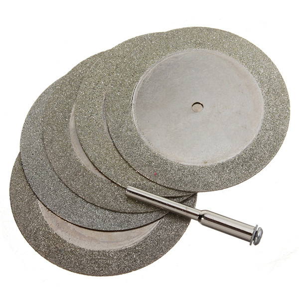best selling Frshpping5pcs 50mm Diamond Cutting Discs & Drill Bit For Rotary Tool Glass Metal
