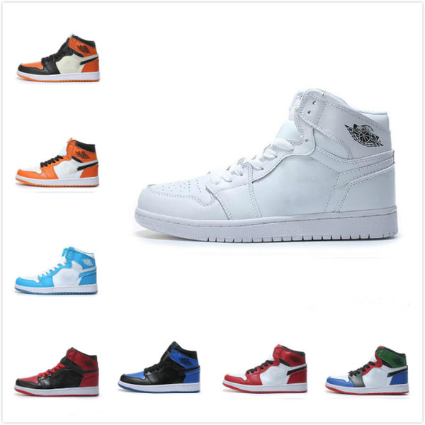 2019 Air OG 1 Top 3 Retro Mens Basketball Shoes For Women High Quality Designer Luxury UNC Rebel Sports Sneakers Trainers Maxes Shoes 40 46 From