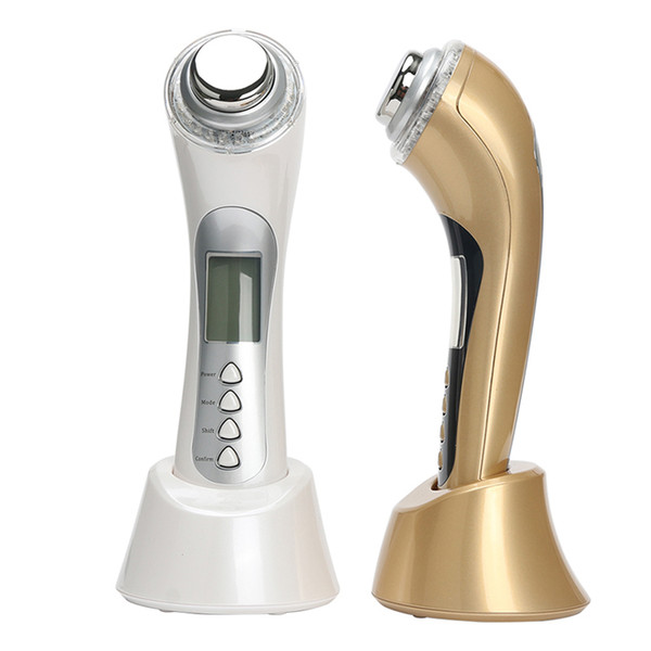 UP001 Hot Sale 5 in 1 Rechargeable Galvanic ultrasonic Photon LED Electric Facial Massager Body Face Beauty Skin Care