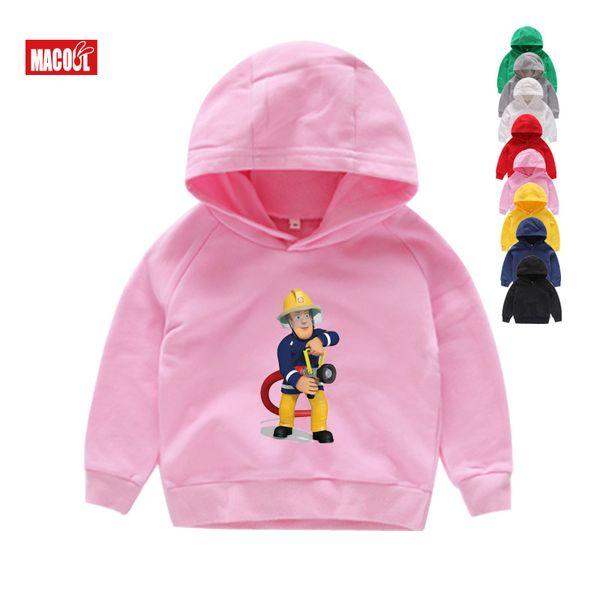 Fireman Sam Printed Kinder Kostüme Pullover Sweatshirts Mantel Baby Pullover Kinder-Sweatshirts Mädchen-Karikatur Hoodies 2T-8T