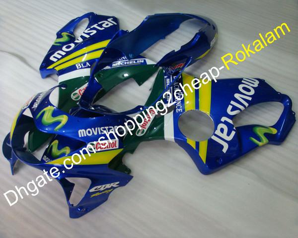 Motorradteile für Honda Verkleidungen CBR600 CBR 600 F4 1999 2000 CBR600F4 99 00 CBR 600F4 Movistar Moto Verkleidungsset