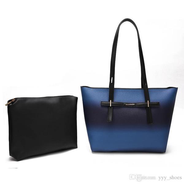 2019 yeni varış tasarımcı kadın yüksek kapasiteli Çanta Omuz Çantası lüks Çapraz Vücut Flap çanta Debriyaj çanta tote Kompozit Çanta
