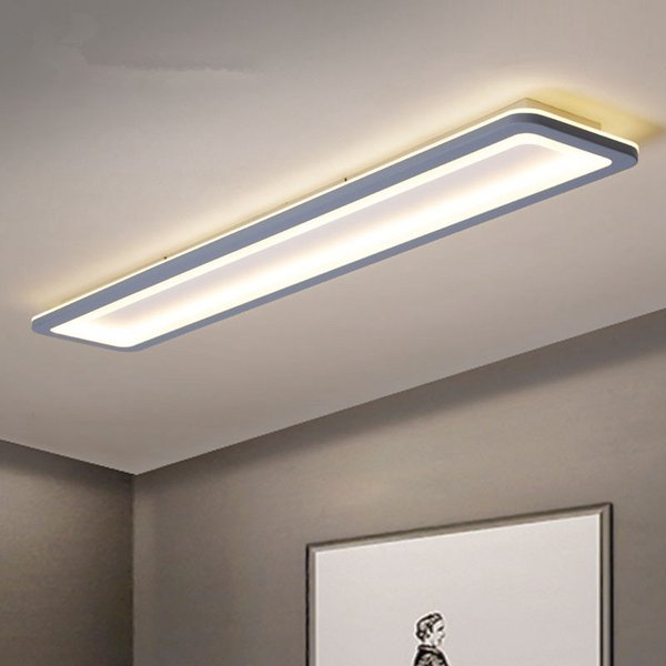 2019 Modern Led Ceiling Lights For Bedroom Kitchen Aisle Lights Plexiglass  Long Strip Ceiling Lamp Lighting Fixtures From Jess135, $88.45   DHgate.Com