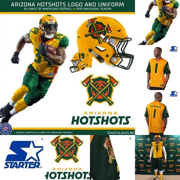 Mens Arizona Hotshots Jersey 7 John Wolford 10 Trevor Knight 11 Jack Heneghan 16 Richard Mullaney Alliance of American Football Jerseys