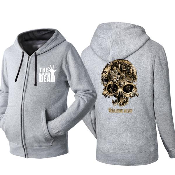 Spring Autumn Cardigan Men Hoodies Popular Hip Hop Jacket Walking dead Fashion Casual Sweatshirt Sportswear Zipper Coats