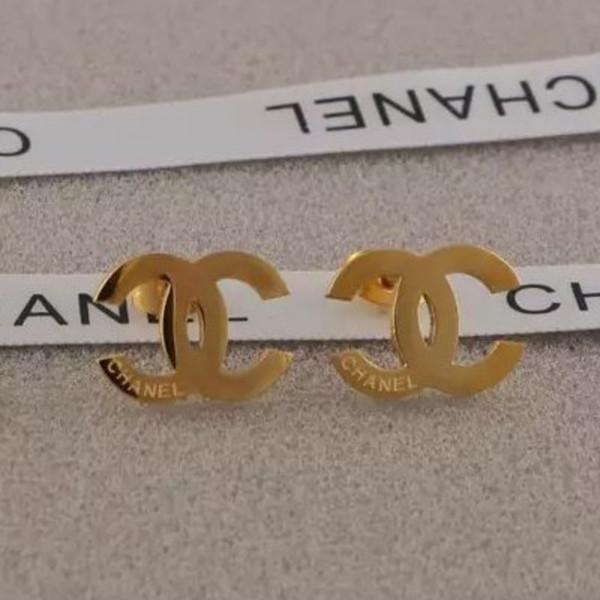 2019 Yeni Toptan Fiyat Küpe Kulak Saplama Küpe Kadınlar için Altın Gümüş G Mektup Paslanmaz Çelik