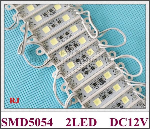 36mm * 9mm SMD 5054 Módulo LED luz de fondo DC12V SMD5054 2 led 0.6W impermeable IP65 alto brillo