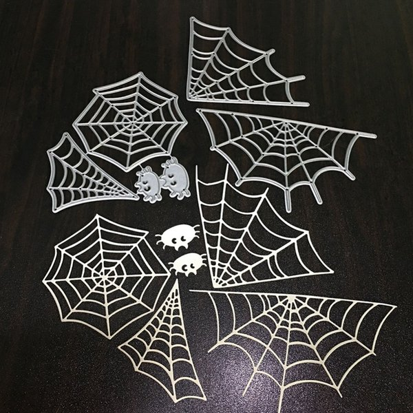 wholesale Crafts Metal Steel Cutting Dies 3pcs/set Spider net Frame Stencil For DIY Scrapbooking Paper/photo Card Embossing Dies
