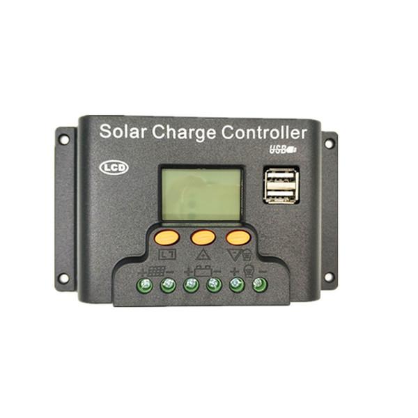 Contrôleur d'énergie solaire 12V24V30A 10A20A Contrôleur solaire de charge et de décharge à LED avec affichage lumineux de nuit