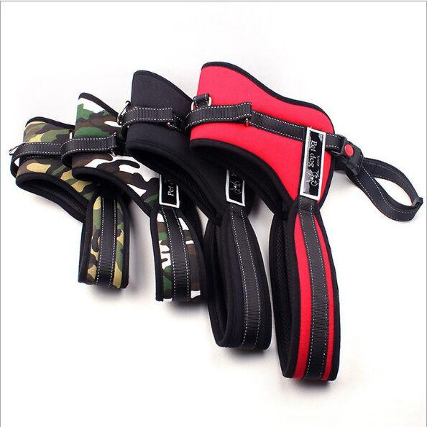 K8 pet cotton chest back explosion-proof impact pet chest strap medium and large lead leash dog chest strap