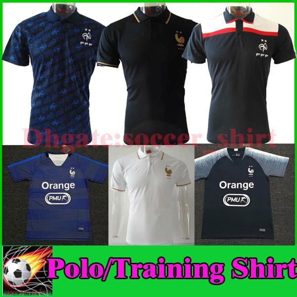 19 20 FR Soccer Polo Shirt MBAPPE FRaNce GRIEZMANN KANTE Maglia da allenamento 2019 2020 Man Soccer Jersey Polo Shirt Uniformi sportive