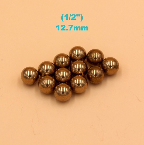 best selling 1 2'' ( 12.7mm ) Brass (H62) Solid Bearing Balls For Industrial Pumps, Valves, Electronic Devices, Heating Units and Furniture Rails