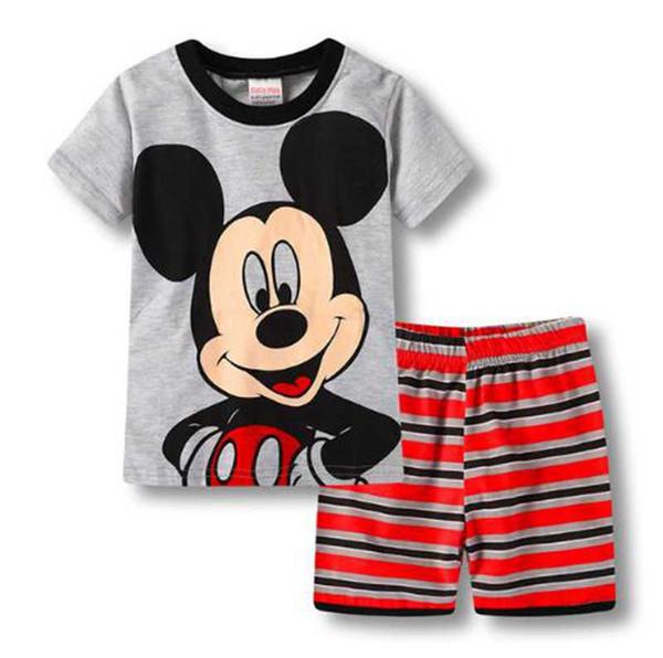 2018 New Summer Kids Clothes Baby Boys Girls Clothing Short Sleeve Costume Cotton Pajamas PJS Childrens Nightdress Pijamas