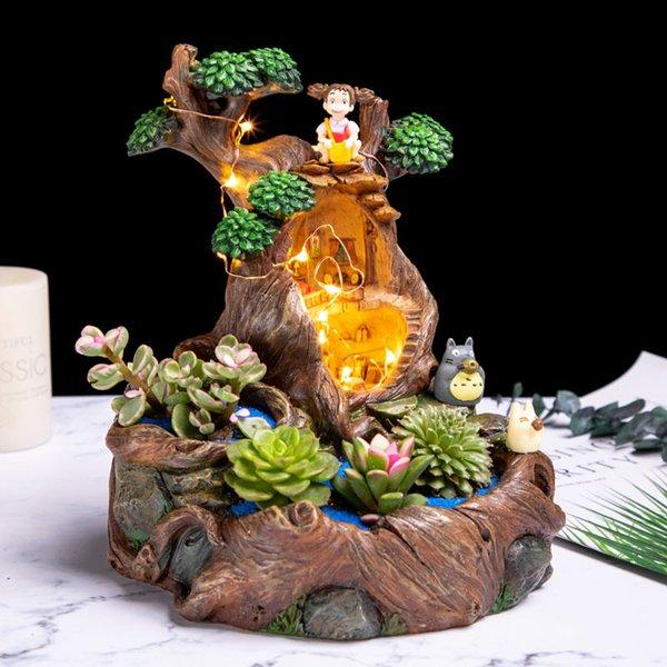 1 pieza original Diseño Resina maceta plantas suculentas Planter Pot Infancia árbol de diseño de la casa del plantador de Bonsai Cactus T191016