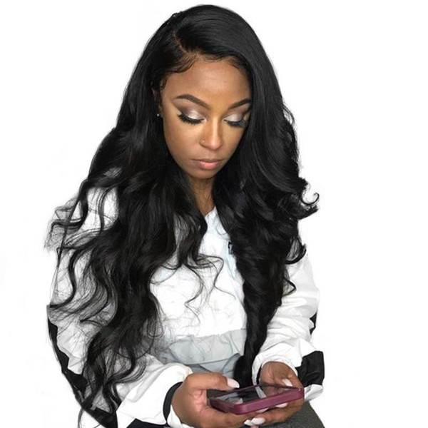 Deep Part 13X6 Lace Front Human Hair Wigs For Women Black 180 Density Body Wave Lace Front Wig Brazilian Pre Plucked Remy
